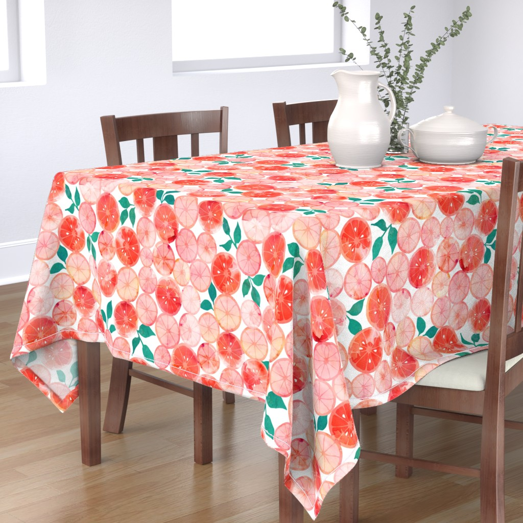 Bantam Rectangular Tablecloth featuring Summer fruit by adenaj