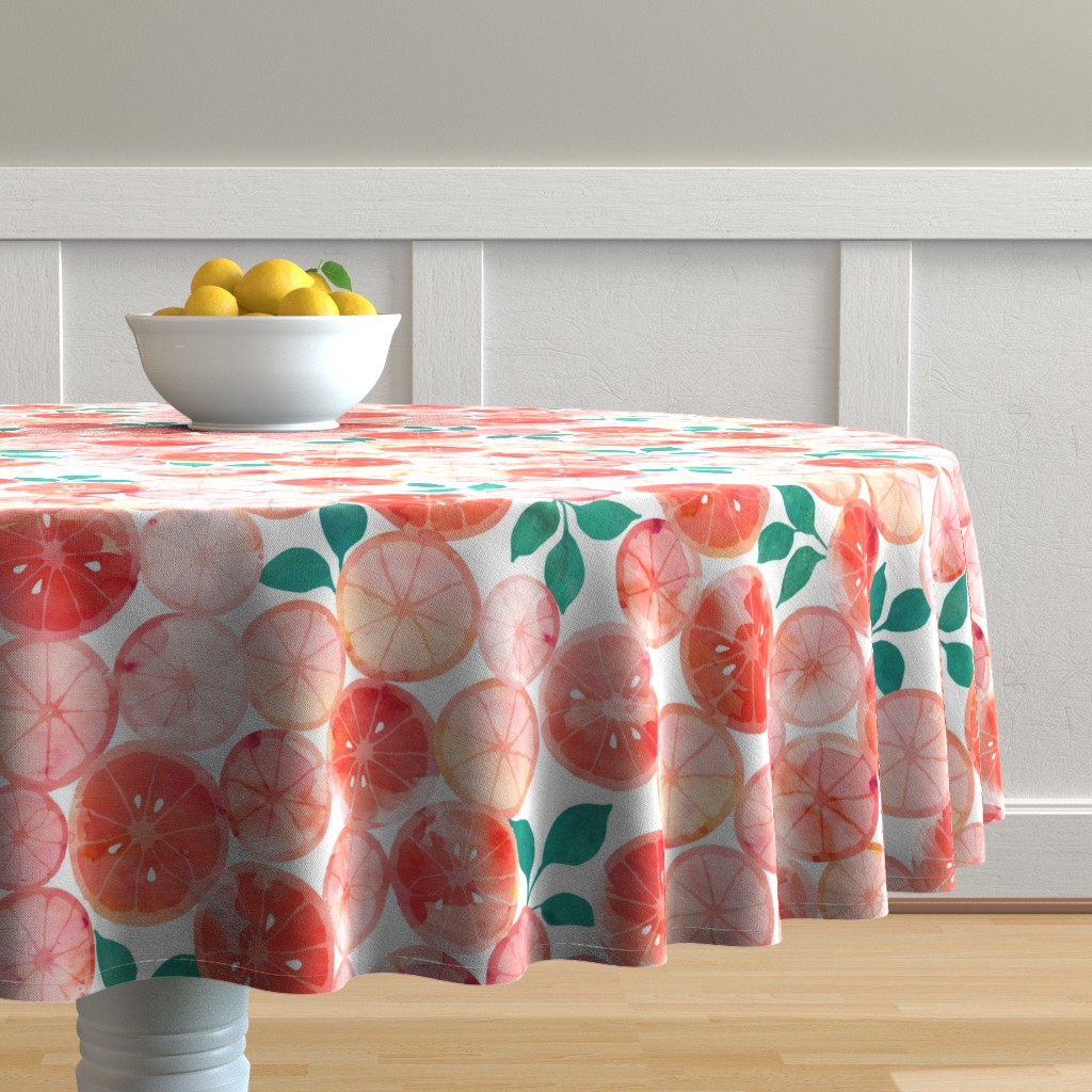 Malay Round Tablecloth featuring Summer fruit by adenaj