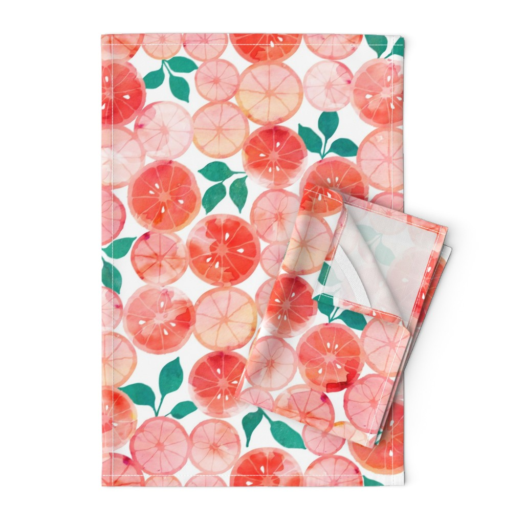 Orpington Tea Towels featuring Summer fruit by adenaj