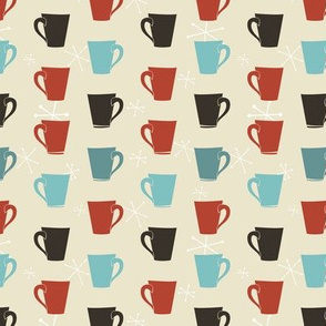 Retro Coffee Cups Pattern