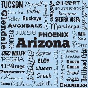 Arizona cities, blue