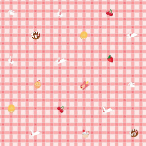 Sweets n Bunnies Check - PINK