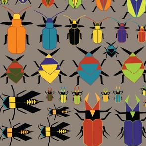 Paper Origami Entomology Plate Large