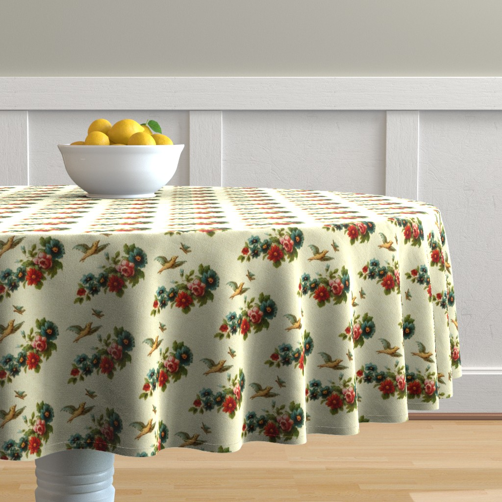 Malay Round Tablecloth featuring 18eme siecle 3 by hypersphere