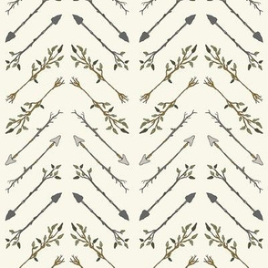 Twiggy Arrows Herringbone - Ivory