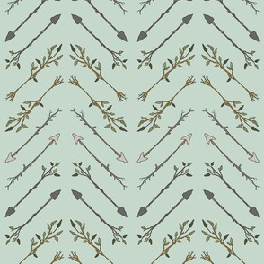 Twiggy Arrows Herringbone - Mint