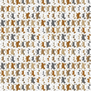Trotting Chihuahua border A - vertical small
