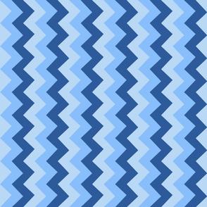 Collared portrait vertical chevron coordinate - blue
