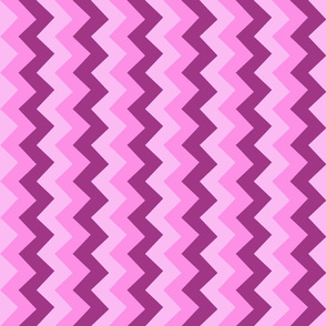 Collared portrait vertical chevron coordinate - pink