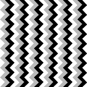 Collared portrait vertical chevron coordinate - gray