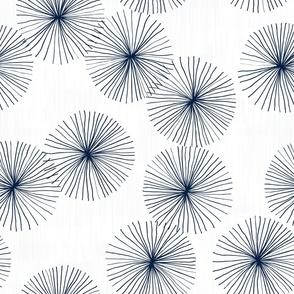 Dandelions White Navy by Friztin