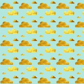 Gold and blue clouds