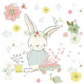 """6"""" Garden Bunny / White"""
