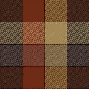 "paneled tartan check - 6"" - browns"