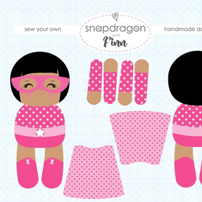 Pink Supergirls - Make Your Own Doll