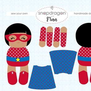 Supergirl Red Make Your Own Doll