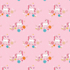 Sweet Magical Unicorns - Pink