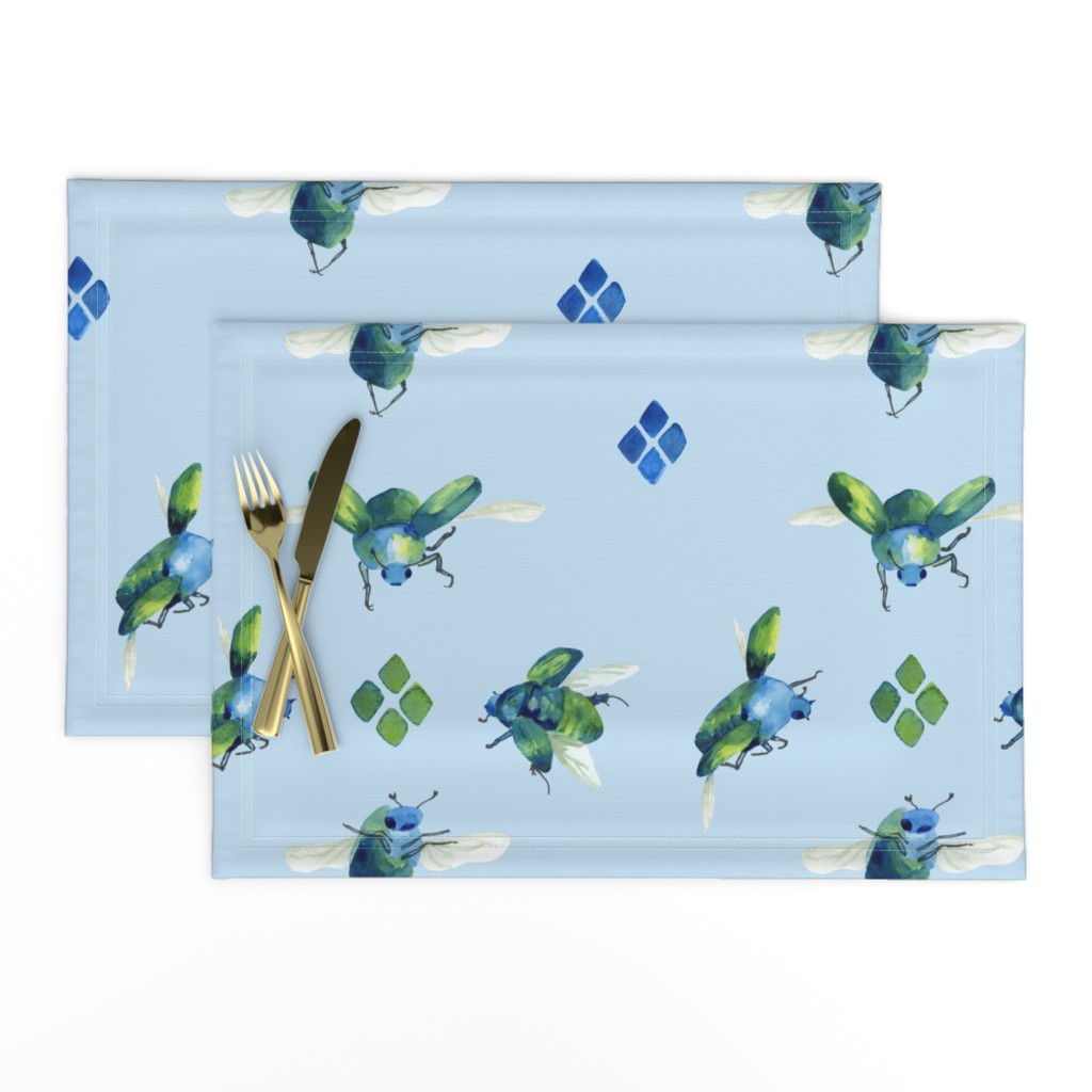 Lamona Cloth Placemats featuring blue_beetles by ghouk