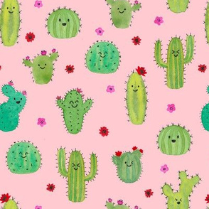 Smiley Cacti - pink
