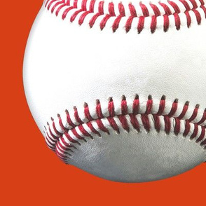 "big (8.5"") baseballs on orange"
