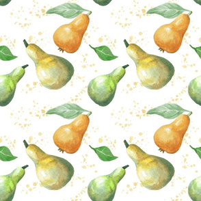 Juicy pears watercolors