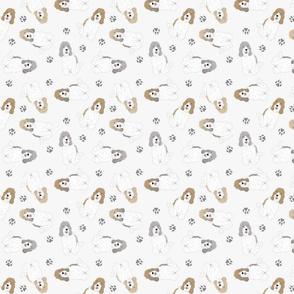 Tiny Petit Basset Griffon Vendeen - gray