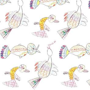 Singing Birds by Emma Joy, 5 yrs.