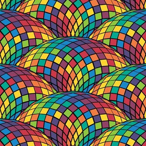 geodesic scallop - bright rainbow