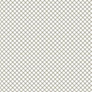 Tiny Rococo Lattice - small white