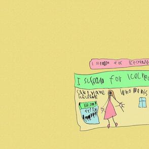 icecream, by Abigail, aged 6.