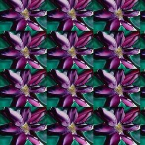 encaustic purple flower
