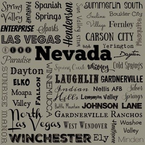 Nevada cities, taupe