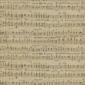 Carl Wilhelm's seamless handwritten sheet music - small