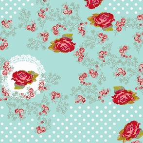 doilies and roses