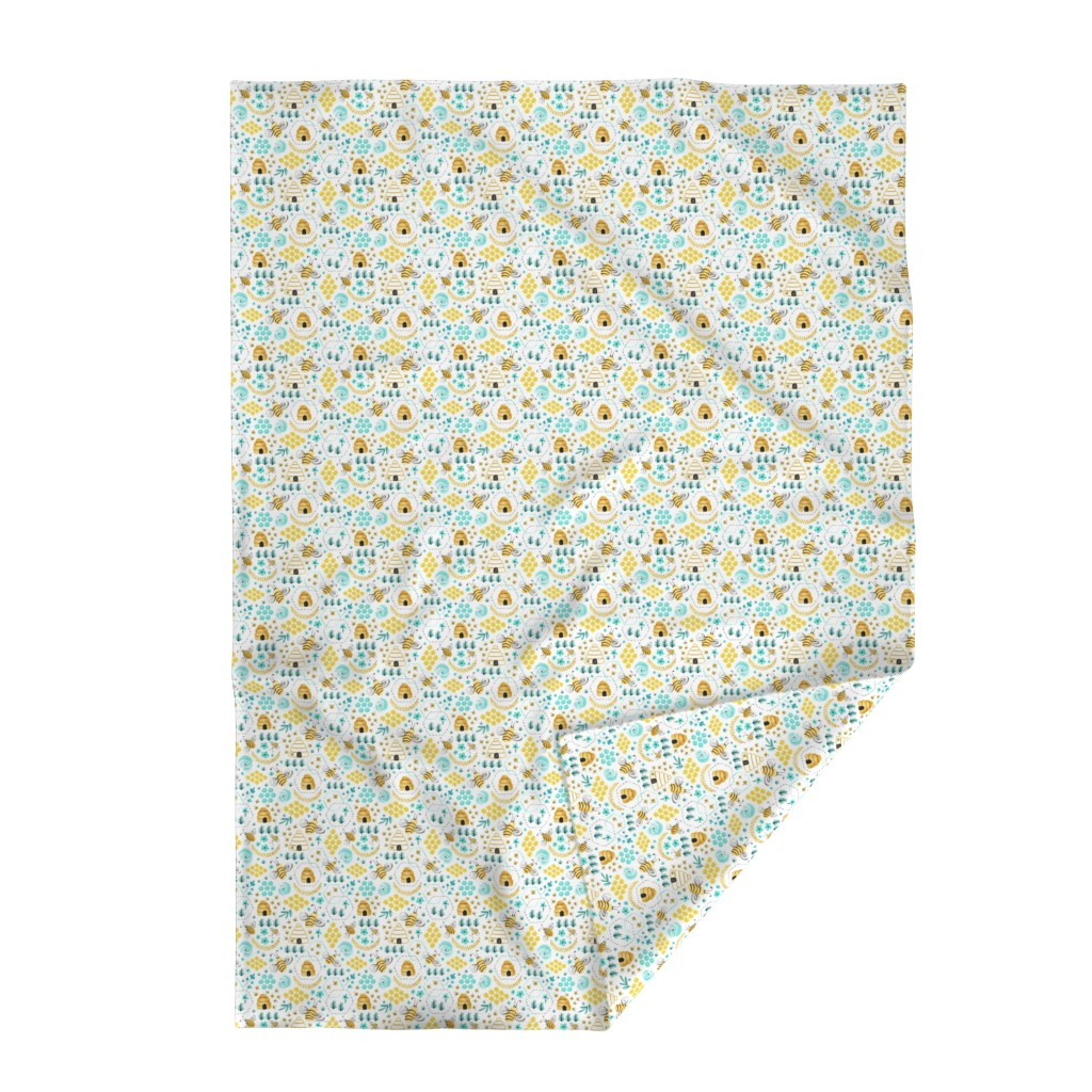 Lakenvelder Throw Blanket featuring Busy Bees - Watercolor by heatherdutton
