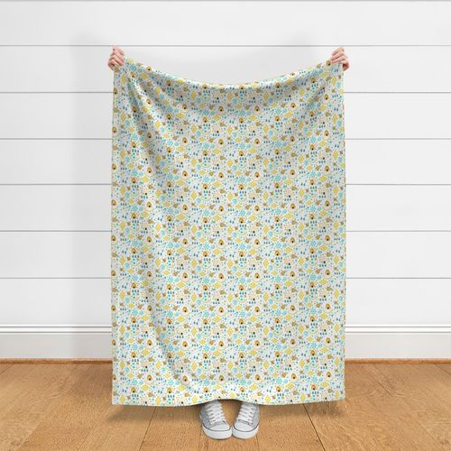 Watercolor by heatherdutton Watercolor Cotton Sateen Sheet Set Bedding by Spoonflower Busy Bees Honeybees Sheets