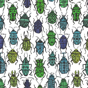Beetle Madness Cool Colors
