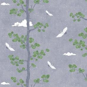 Pines & Cranes - Day