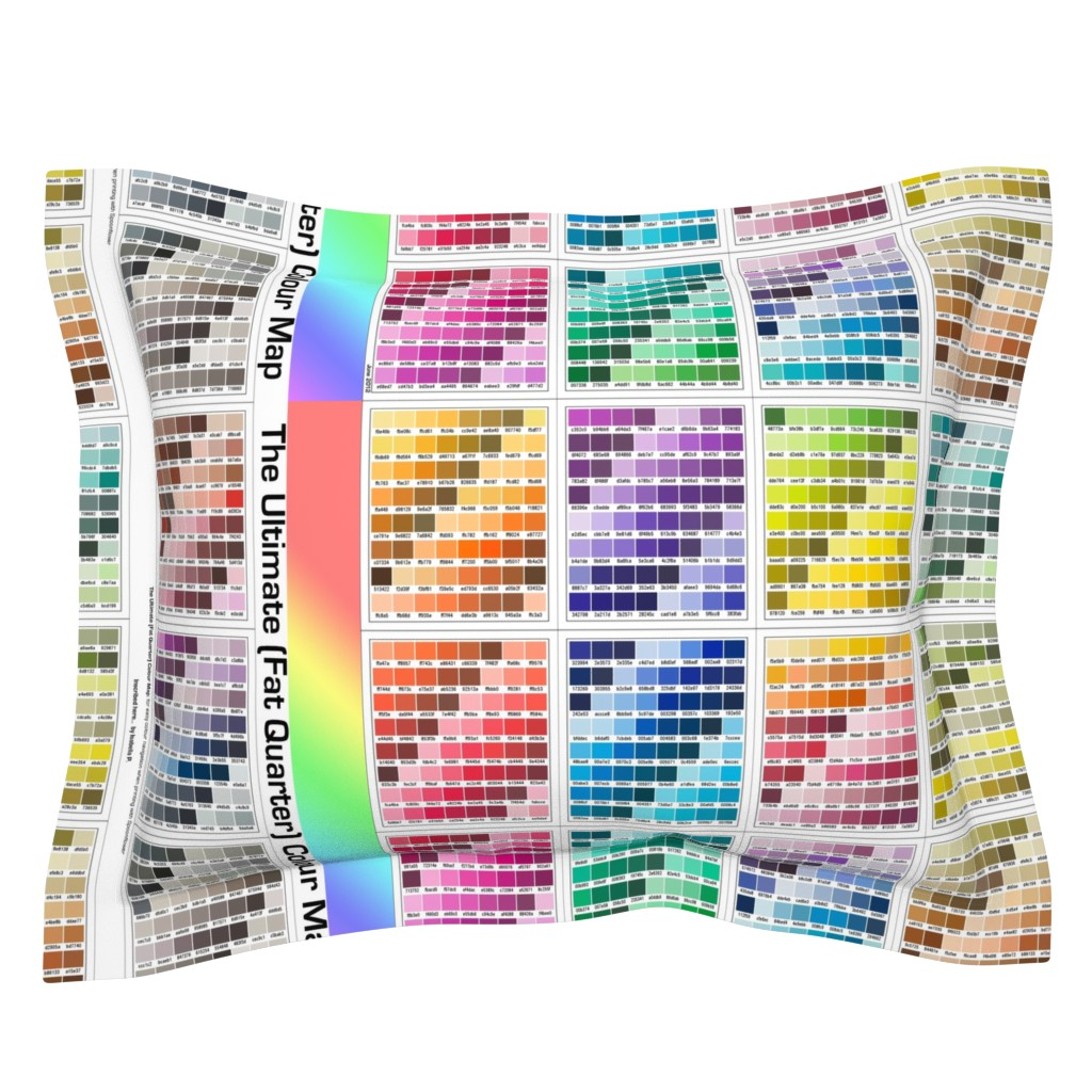 Sebright Pillow Sham featuring Ultimate [Fat Quarter] Colour Map by inscribed_here