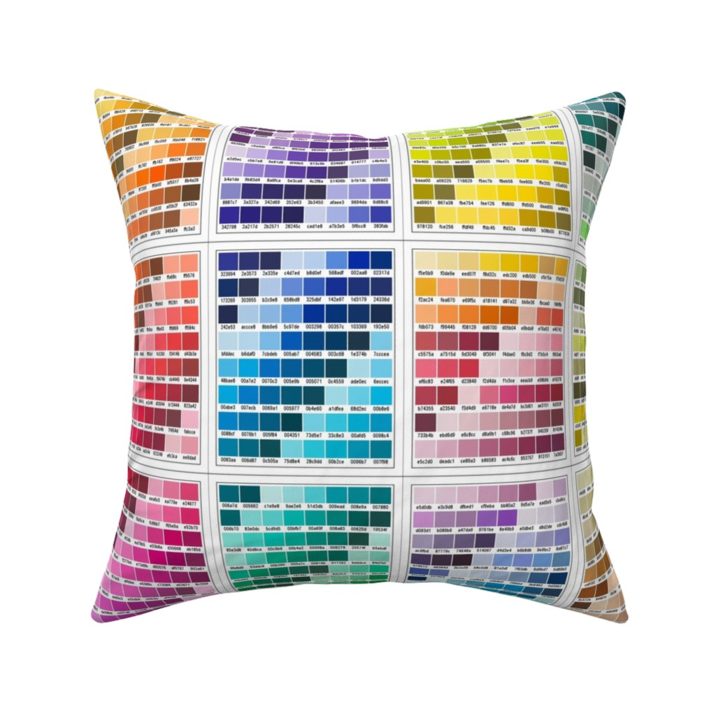 Catalan Throw Pillow featuring Ultimate [Fat Quarter] Colour Map by inscribed_here