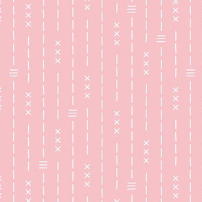 Basic vintage tribal ethnic aztec arrows stripes and crosses pink summer