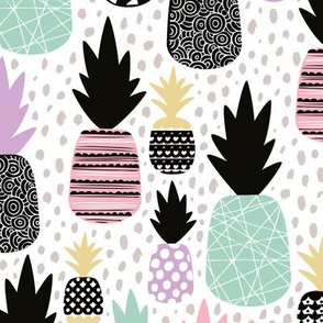 Pastel tropical hawaiian summer sweet kawaii pineapple fruit for girls LARGE