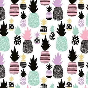 Pastel tropical hawaiian summer sweet kawaii pineapple fruit for girls SMALL