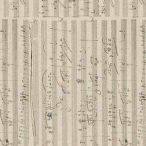 Beethoven's handwritten sheet music