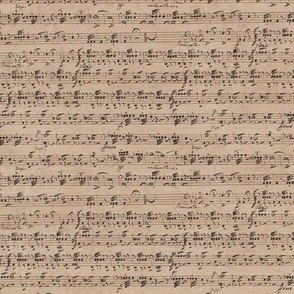 Rossini / Dragonetti's continuous handwritten sheet music - small