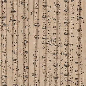 Rossini / Dragonetti continuous handwritten sheet music