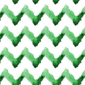 Chevron Watercolor Ikat || Home Decor Tribal Kelly Green Grass White_Miss Chiff Designs
