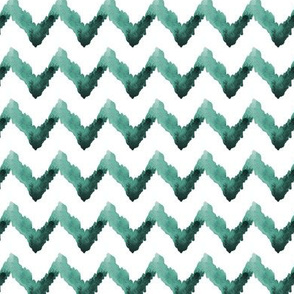 Chevron Ikat Watercolor Home Decor Jade Green White Tribal _ Miss Chiff Designs