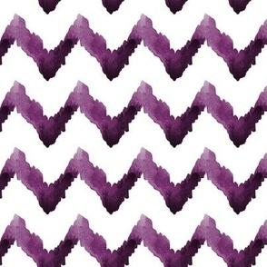 Chevron Watercolor  Home Decor Ikat Plum Purple Eggplant Aubergine Tribal _Miss Chiff Designs
