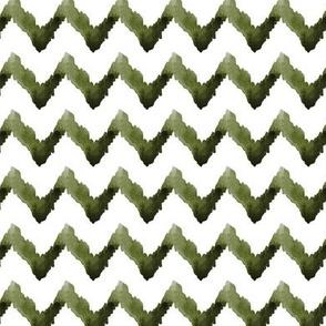 Chevron Watercolor Home Decor olive green white tribal _Miss Chiff Designs